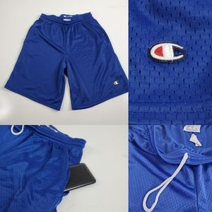 CHAMPION MEN'S BLUE BASKETBALL SHORTS POCKET SMALL